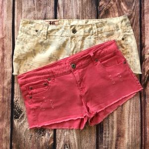 2 pair of jean shorts